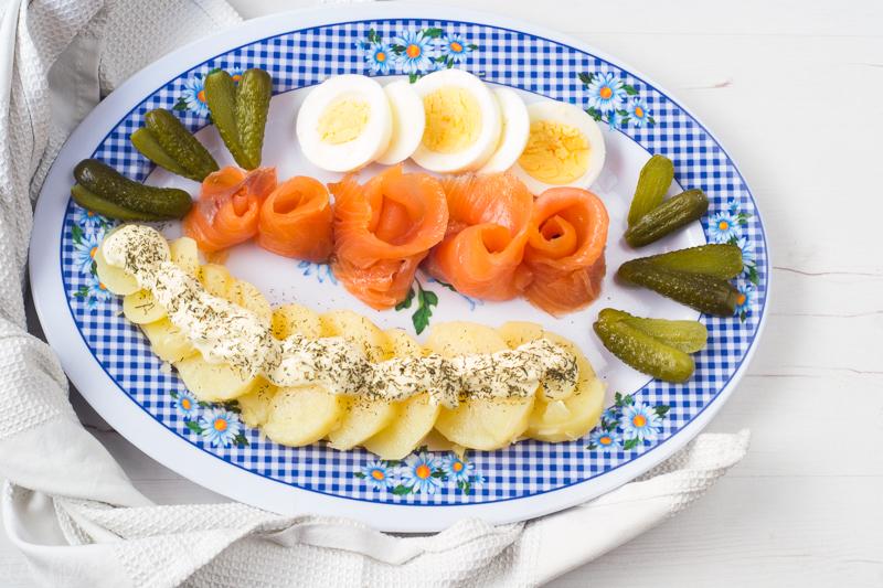 Ensalada de patatas y salmón #singluten #sinlactosa