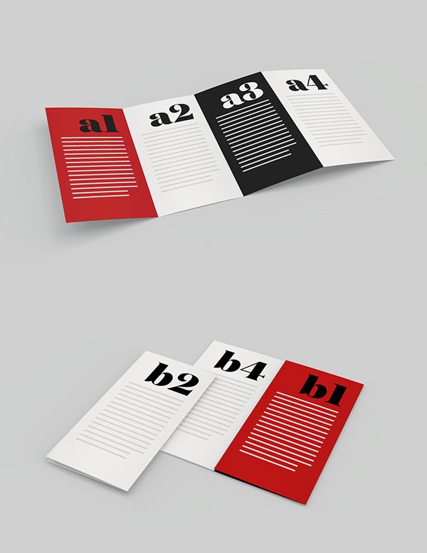 Download Gratis Mockup Majalah, Brosur, Buku, Cover - Mockup Fold Brochure