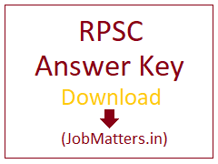 image : RPSC Answer Key 2020 @ JobMatters