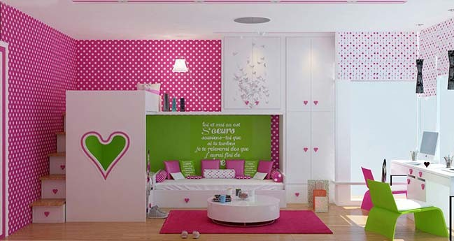 Beautiful bedroom design for girls