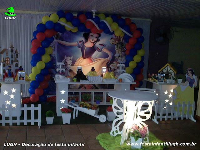 Decoração de festa Branca de Neve para mesa decorativa infantil