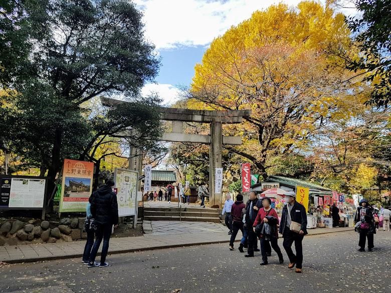 上野東照宮的入口,就是在入口處賣店吃午餐