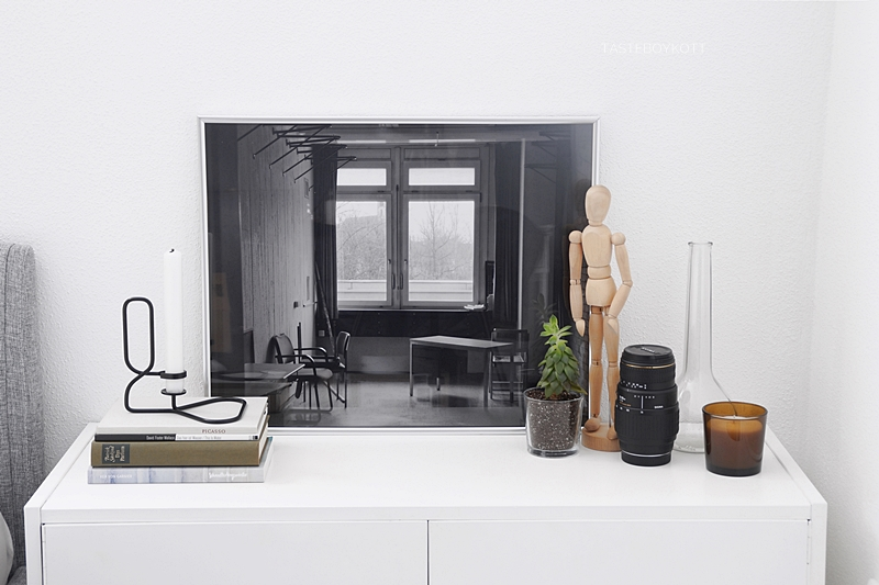 black and white abandoned house photography art print sideboard styling
