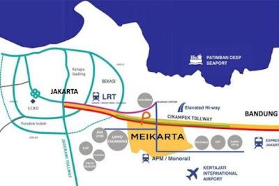 peta wilayah kota fenomenal Meikarta - misteri kota raksasa