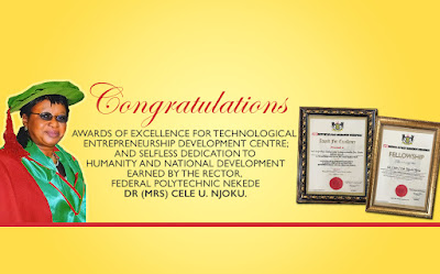 FPNO Rector got award of Excellence for technological Entrepreneurship Development Centre