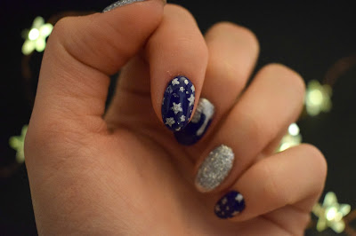 Blue and silver stars