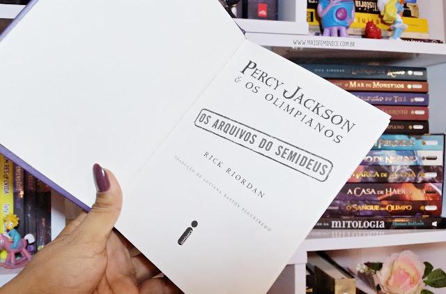 [Resenha] Os Arquivos do Semideus - Rick Riordan