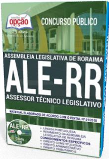 Apostila Assessor Técnico Legislativo ALERR 2018
