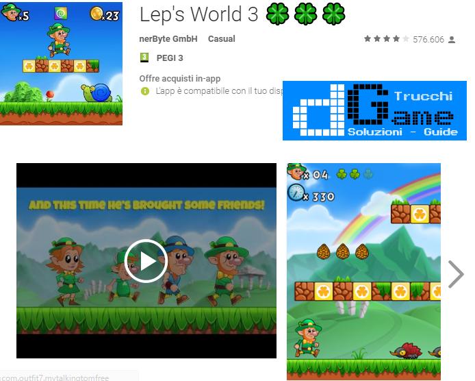Trucchi Lep's World 3  Mod Apk Android v1.8.1