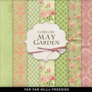 Freebies Background Kit - May Garden