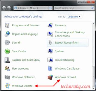windows update & firewall
