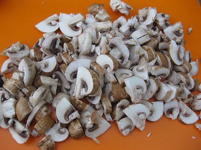 chopped portebello mushrooms