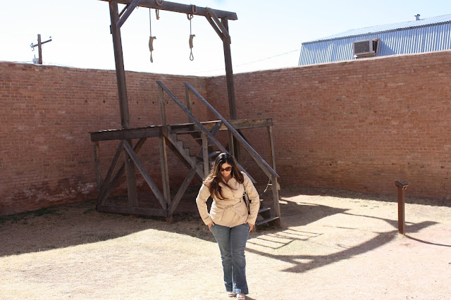 Gallows at the Tombstone Courthouse - Fab Everyday Travel