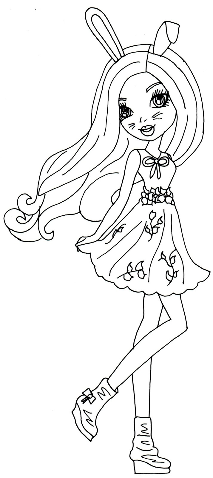 ever after high coloring pages harelow ever after high coloring page