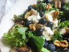 Blueberry and Goat Cheese Salad with Mushrooms