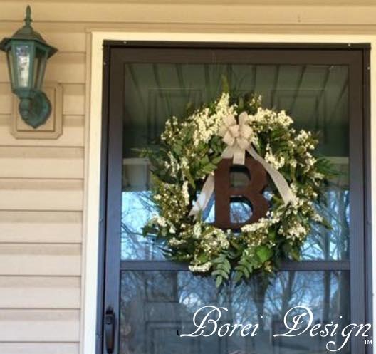 Diy Home Decor Indian Style Tutorial: Easy DIY Home Decor: Hanging Monogram Wreath Tutorial