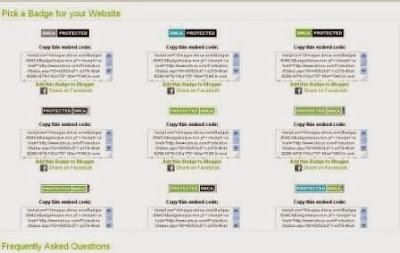 Cara Pasang Protected DCMA di Blog