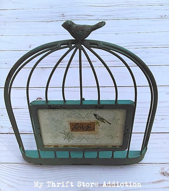 thrift store birdcage frame