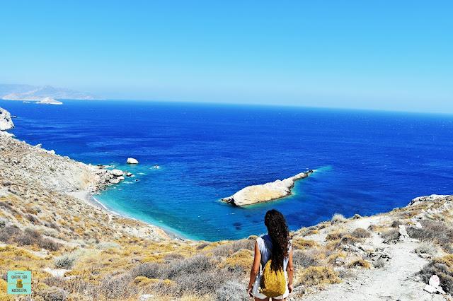 Playa Katergo, isla de Folegandros (Grecia)