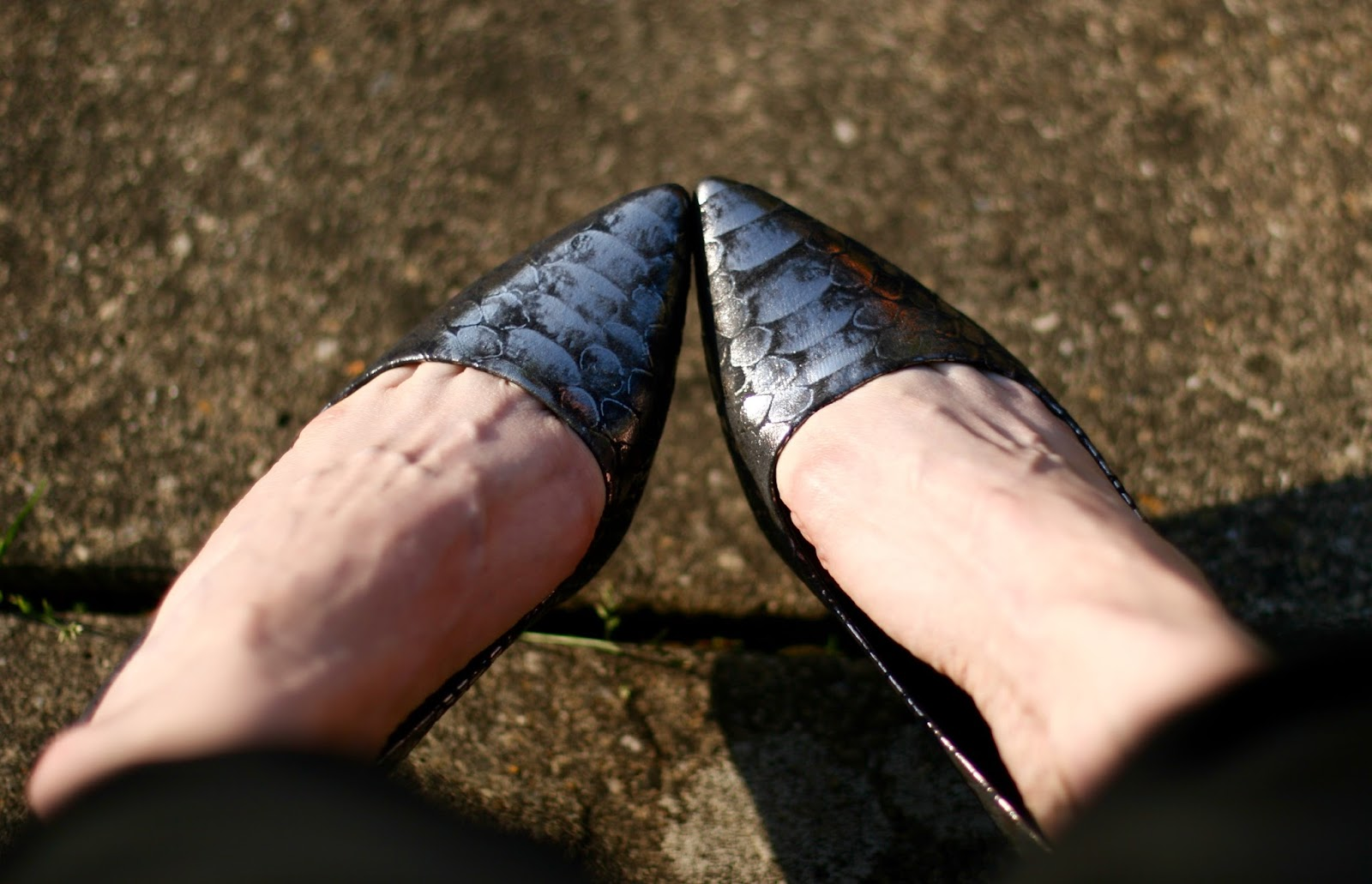 Metallic Zara heels