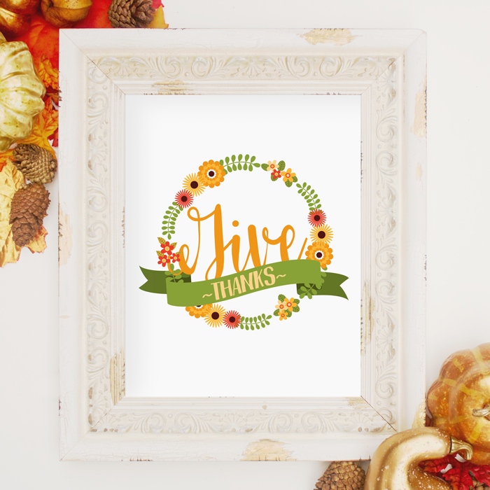 This simple free Thanksgiving printable is perfect for your fall decor.