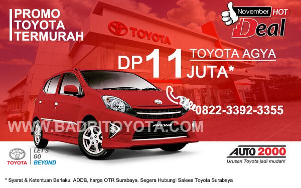 Paket Keren Agya DP 11 Juta, Promo Toyota Surabaya