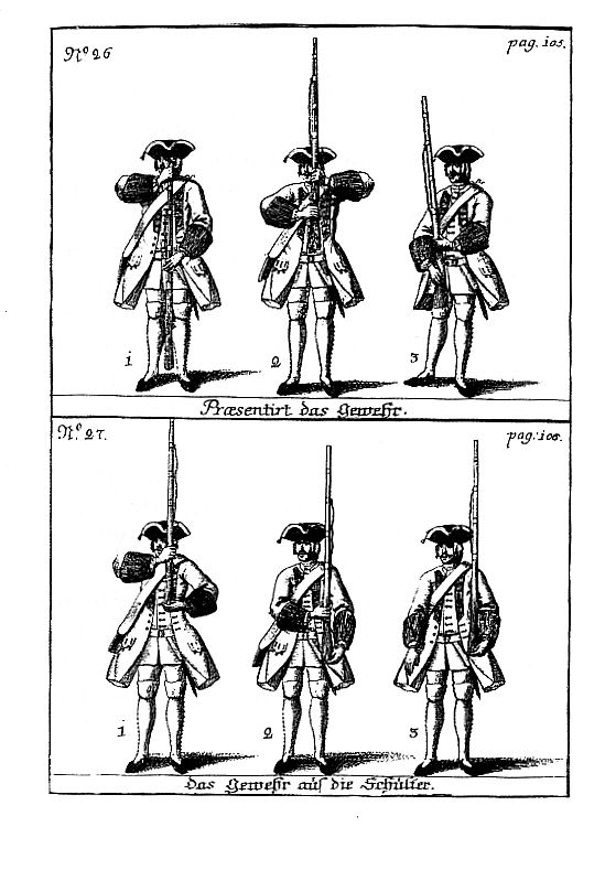 Wars of Louis Quatorze: Austrian manual of arms for the