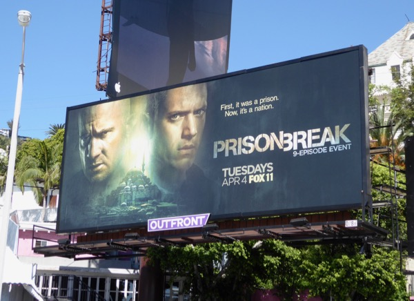 Prison Break 2017 revival billboard