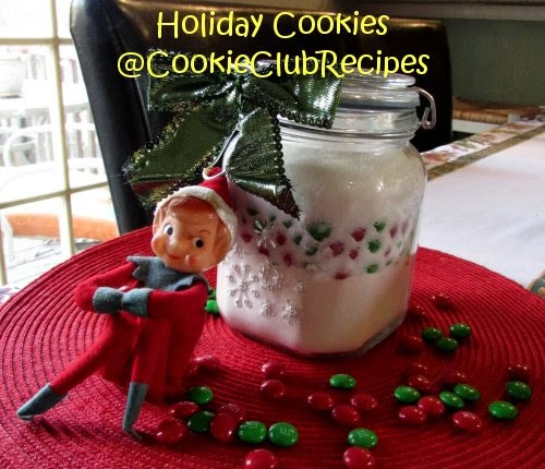 M&M's Holiday Cookie Mix in a Jar Recipe at CookieClubRecipes!