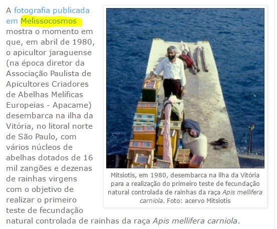 Στην Βραζιλία μιλάνε για το άρθρο που έκανε ο Melissocosmos στον διασημότερο εν ζωή Έλληνα μελισσοκόμο Νίκο Μητσιώτη!!!