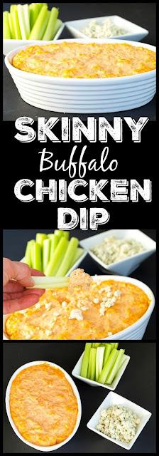 Super Easy Skinny Buffalo Chicken Dip