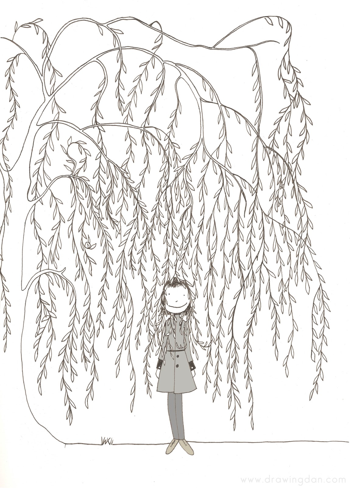 willow tree coloring pages - photo#23