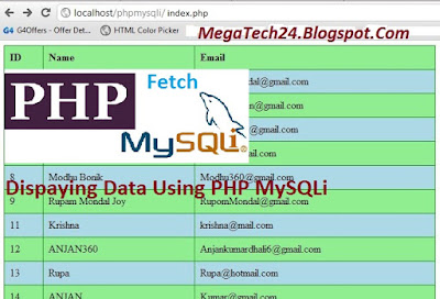 Displaying Data from Database as Table PHP mysqli fetch array