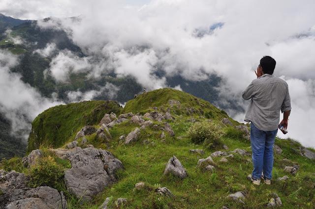 clouds in hills