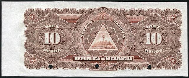 Nicaragua 10 Pesos Banknote