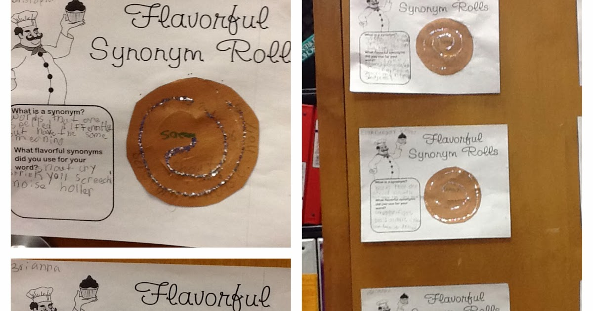 Tidbits From Ms  Pitts: Flavorful Synonym Rolls w/ FREEBIE Worksheet