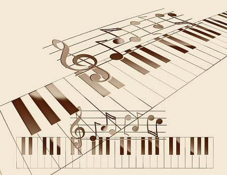 Teclado notas musicais