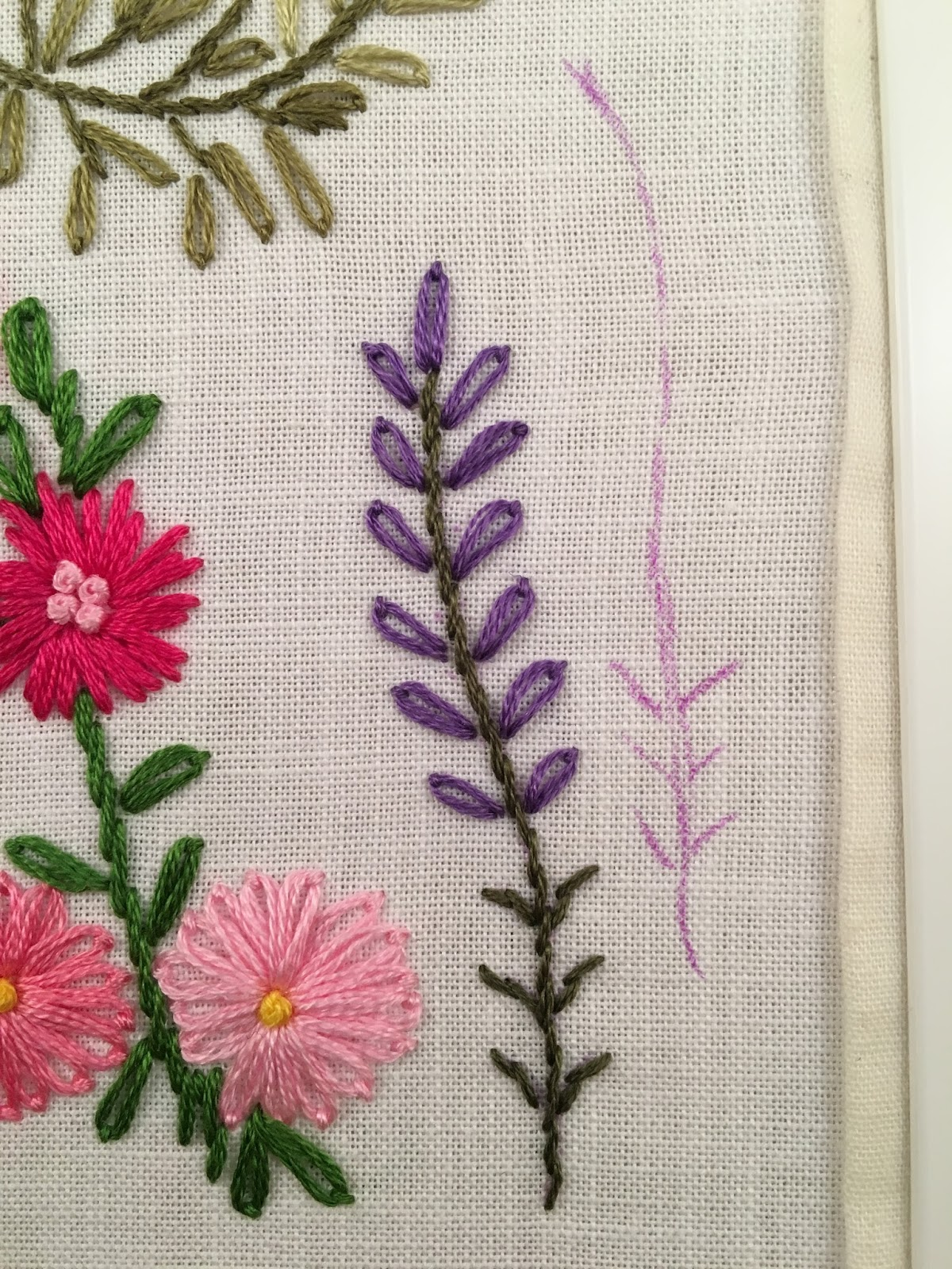 Mooshiestitch embroidered lavender