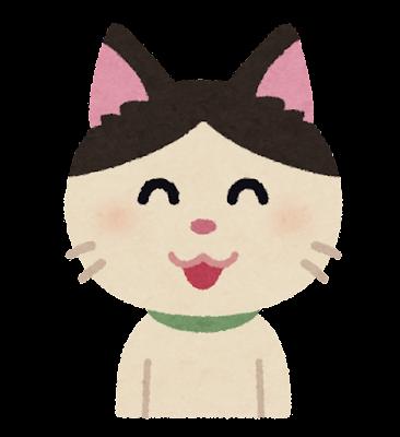 笑顔の猫のキャラクター