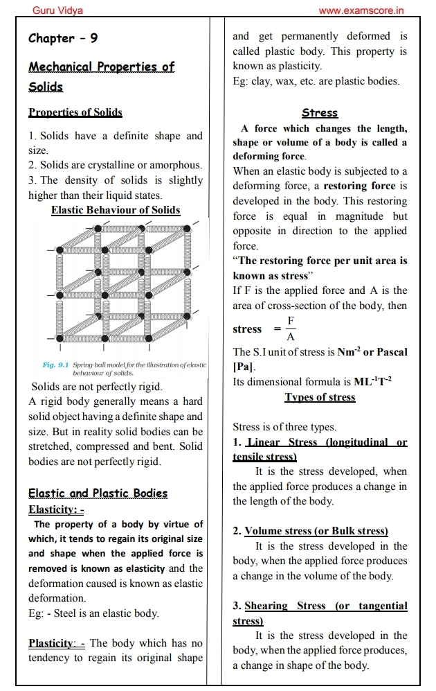 Xi physics notes