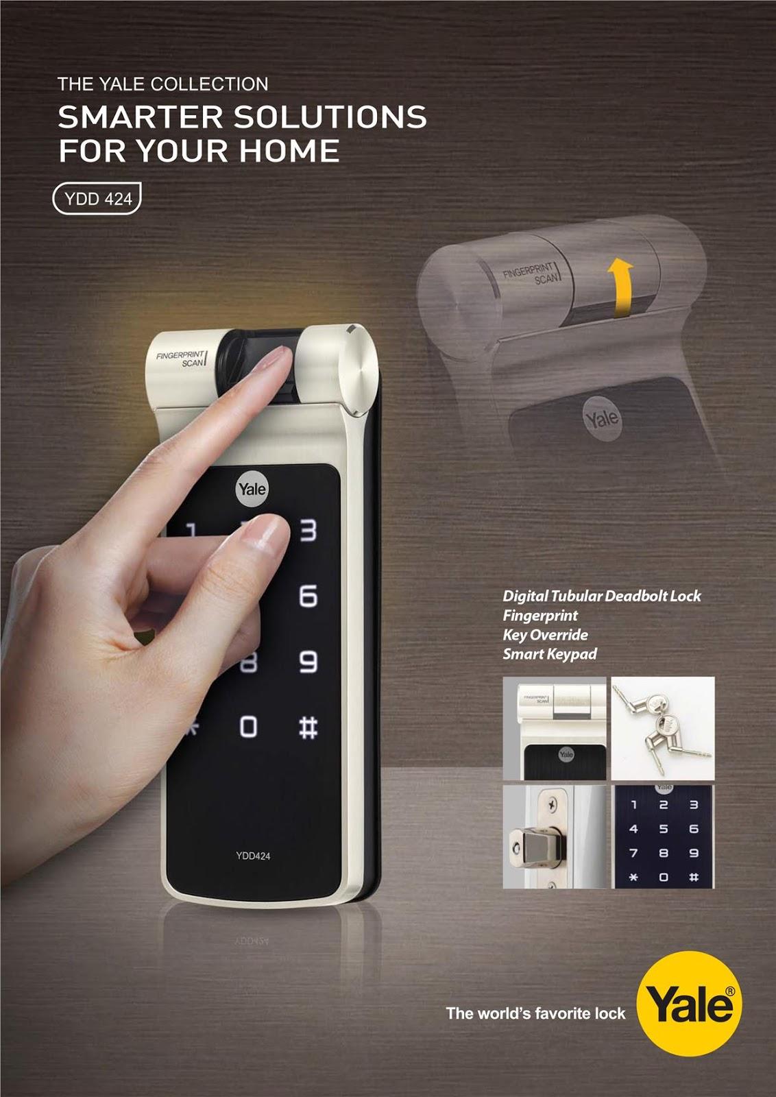 Skl Diy Uptown Yale Ydd424 Digital Biometric Door Lock