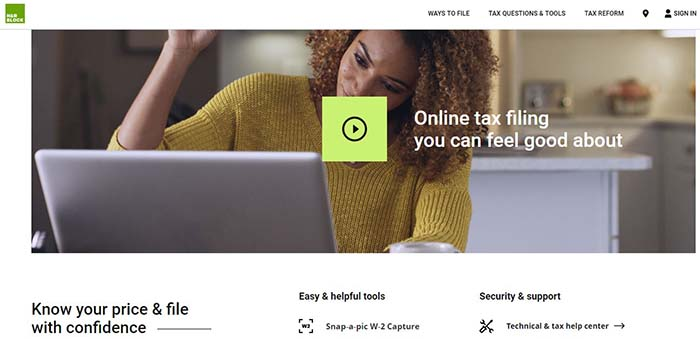H&R block to claim tax credit