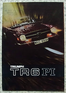 The Light Car Co. Ltd, Derby dealer stamp on a TR6 brochure
