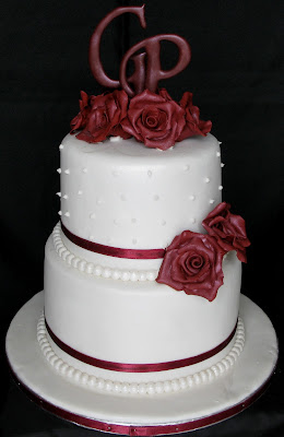 Sugarcraft by Soni: Two - Layer Wedding Cake with Roses