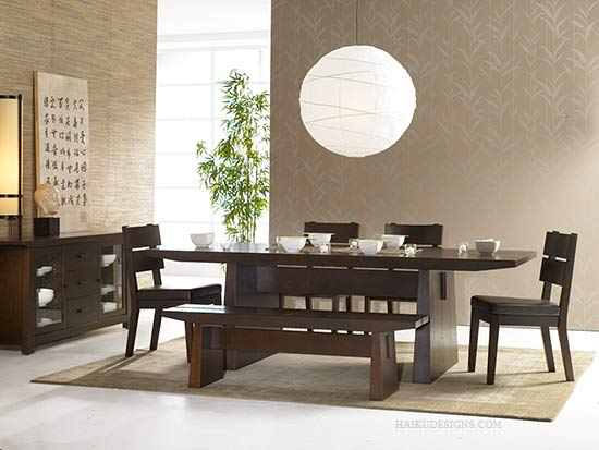 asian style dining table modern furniture new asian dining room furniture design 2012 from haiku designs 4035