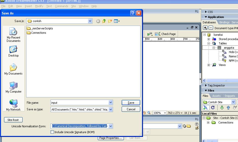 Tutorial Membuat Website Input Output dengan Dreamweaver ...