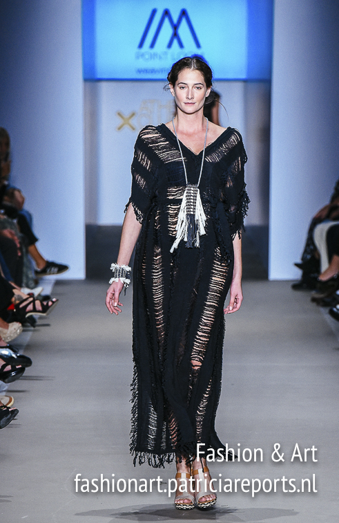 Christiana Gargaropoulou for Point Loom in a black dress at Athens Exclusive Designers Week - 22nd AXDW