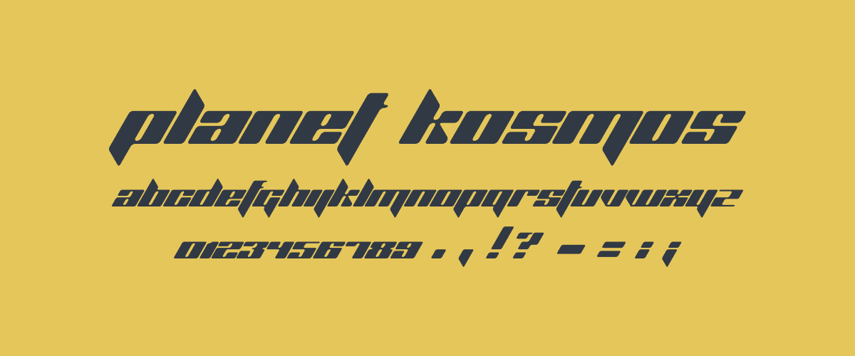 Kumpulan Font Terbaik Untuk Desain Sticker - Planet Kosmos