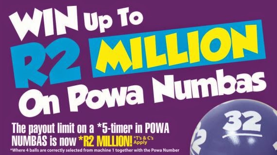 Win up to R2 Million on betting Powa Numbas with Hollywoodbets - Lucky Numbers