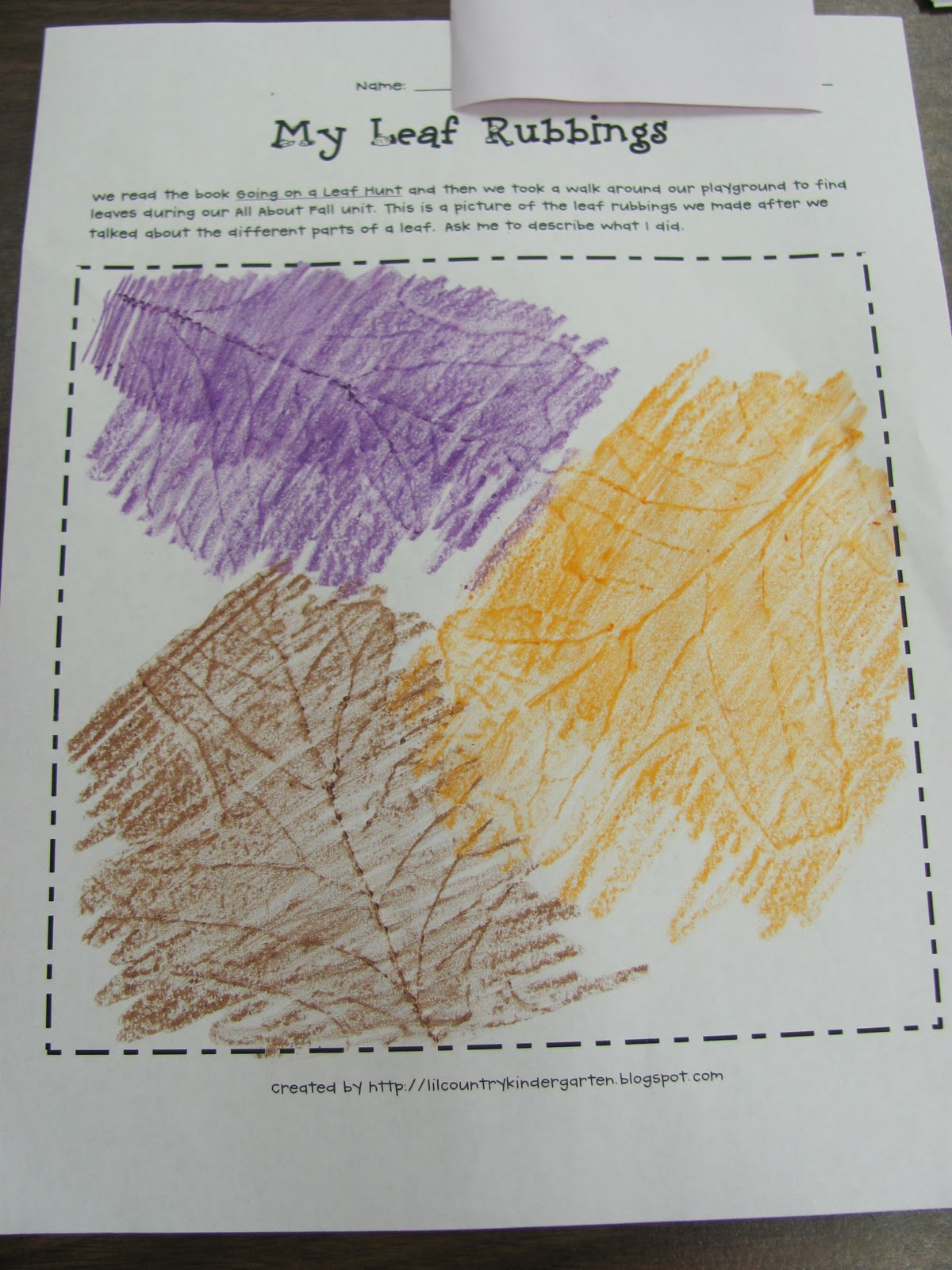 Lil Country Librarian We Re Going On A Leaf Hunt Leaf Rubbings Printable